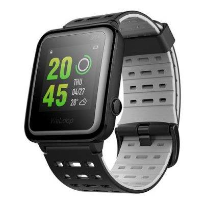 smartylife-WeLoop Hey 3S 1.28 Inch Memory LCD Sports Smart Watch 50 Meters Water Resistance Bluetooth 4.0 - Black