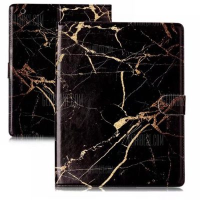 smartylife-Wkae Marble Flat Computer Leather Case for iPad 2 / 3 / 4