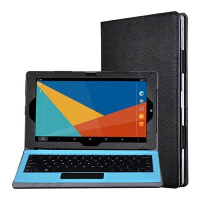 smartylife-11.6 Inch Protective Leather Case For Teclast TBook 16 - Black