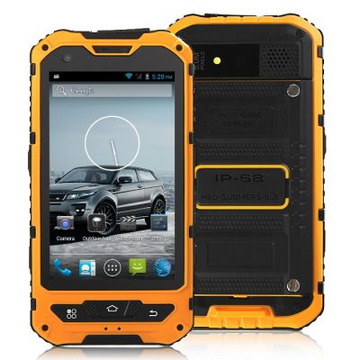 smartylife-A8 MTK6572W Dual Core 1.2Gzh Smartphone 4.0 Inch Andriod 4.2.2 OS Waterproof Phone 5.0MP IP68 3G/GPS - Yellow