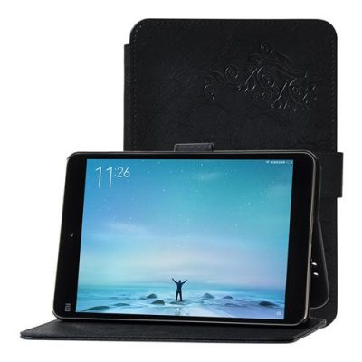 smartylife-Canvas Grain PU Protective Case for Xiaomi Mi Pad 3/Mi Pad 2 - Black
