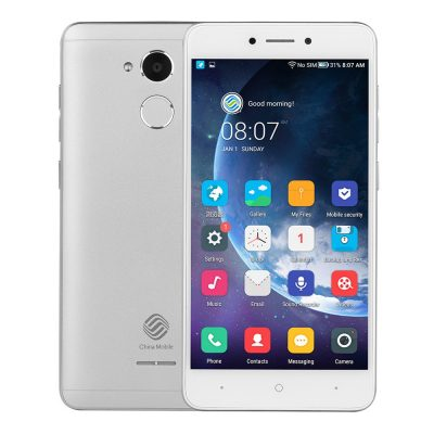 smartylife-China Mobile A3s 5.2 Inch 4G LTE Smartphone 2GB RAM 16GB ROM Snapdragon 425 Quad Core Touch ID VoLTE - Silver
