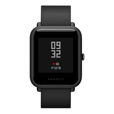 smartylife-(Chinese Version)Huami Amazfit Bip Lite Version IP68 Bluetooth 4.0 Sports Smartwatch GPS Gloness Heart Rate Monitor 45 Days Standby - Black
