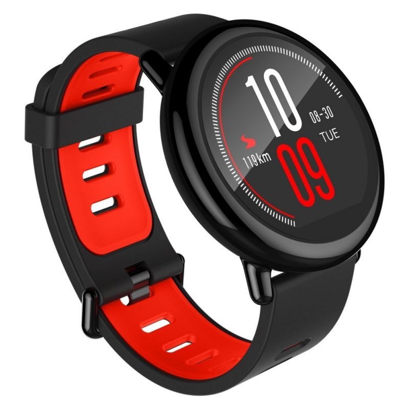 smartylife-(English Version) Xiaomi HUAMI AMAZFIT Pace Smart Sports Watch Support Strava Bluetooth 4.0 WiFi Dual Core 1.2GHz 512MB RAM 4GB ROM GPS Heart Rate Monitor Info Push - Black
