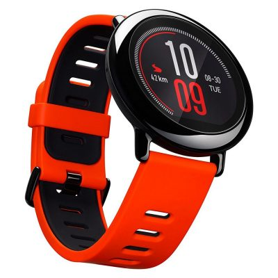 smartylife-(English Version) Xiaomi HUAMI AMAZFIT Pace Smart Sports Watch Bluetooth 4.0 WiFi Dual Core 1.2GHz 512MB RAM 4GB ROM GPS Heart Rate Monitor Info Push - Red