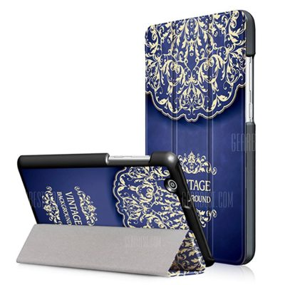 smartylife-Flower Vine Tri-folding Case Cover for Huawei MediaPad T3 7.0