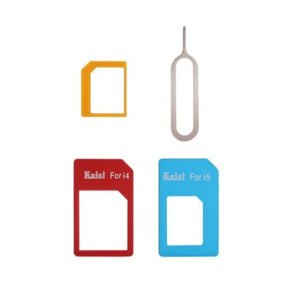 smartylife-Kaisi 4 in 1 Sim Card Converter Adapter Kit Sim Card Slot Set Nano to Micro/Standard For iPhone 4/5 + Sim Tray Opener
