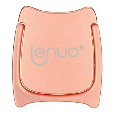 smartylife-Lenuo DL-21 360 Degree Rotation Bracket Ring Holder For Mobile Phone - Rose Gold