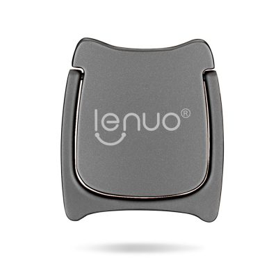 smartylife-Lenuo Phone Ring Holder Metal Finger Grip Ring Stand Holder for Any SmartPhones and Tablets  - Gray