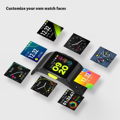 smartylife-Makibes BR1 Smartwatch Support Strava IPS Color Touchscreen GPS IP67 Water Resistant Multisport Smart Band Heart Rate Monitor  - Black