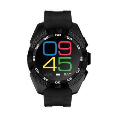 smartylife-NO.1 G5 Smart Watch MTK2502 Heart Rate Monitor Fitness Tracker Call SMS Reminder Remote Camera Sapphire Crystal Dial for Android iOS - Black