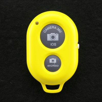 smartylife-New Bluetooth Remote Control Camera Self-Timer for iPhone 5 5S 5C Samsung Galaxy Note2/3 I9500 -Yellow