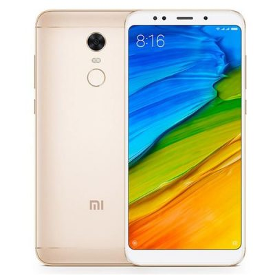 smartylife-[Official Global Version]Xiaomi Redmi 5 Plus 5.99 Inch 4G LTE Smartphone 18:9 Full Screen MIUI 9 4GB 64GB Snapdragon 625 12.0MP Camera (Gold) + Soft Case + Tempered Glass