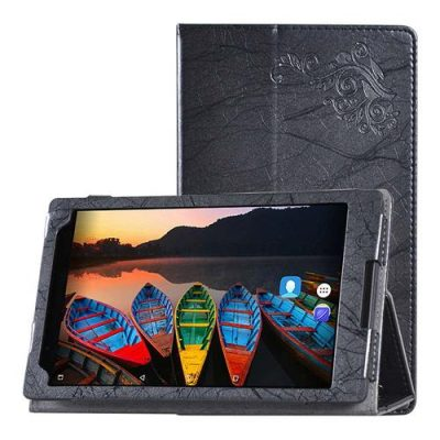 smartylife-Protective Leather Case With Kickstand For Lenovo P8 8 Inch Tablet PC - Black