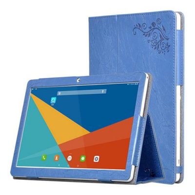 smartylife-Protective Leather Case with Kickstand for Teclast 98 - Blue