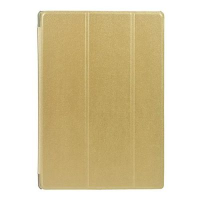 smartylife-Protective Leather Case 10.1 Inch Triple-folded Kickstand for Teclast T10 - Gold