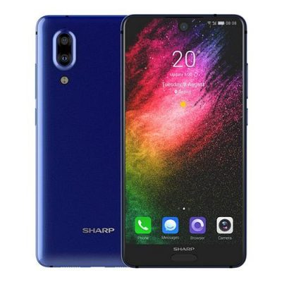 smartylife-SHARP AQUOS S2 5.5 Inch 4G LTE Smartphone 12.0MP+8.0MP Dual Rear Cam Snapdragon SDM630 Octa Core 4GB 64GB Android 7.1 NFC VoLTE Fast Charge Type-C - Blue