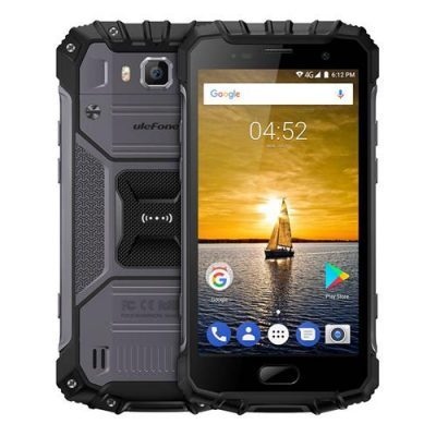 smartylife-Ulefone Armor 2 5.0 Inch IP68 Waterproof Smartphone FHD Screen 6GB 64GB Helio P25 16.0MP Cam 4700mAh Fast Charge NFC - Dark Gray