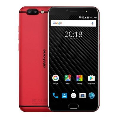 smartylife-Ulefone T1 5.5 Inch 4G LTE Smartphone Helio P25 Octa Core 2.6Ghz  6GB 64GB 16.0MP Dual Rear Cam Android 7.0 Type-C NXP HiFi Audio - Red