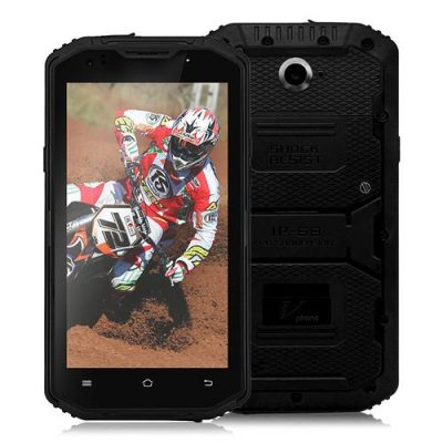smartylife-Vphone X3 IP67 5.5inch HD 4G LTE Android 5.1 MT6735 Quad Core 2GB 16GB Rugged Smartphone Waterproof Dustproof Shockproof 13.0MP 4500mAh Battery - Black
