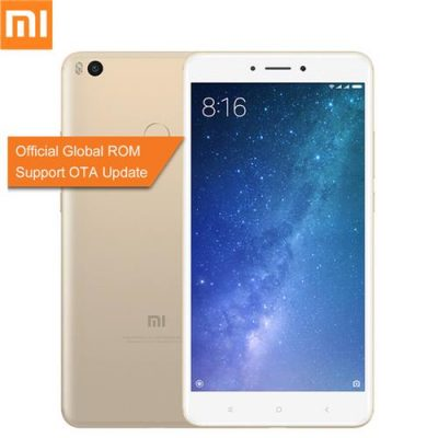 smartylife-Xiaomi Mi Max 2 6.44 Inch  5300mAh Smartphone FHD 4GB 64GB Snapdragon 625 Octa Core 12.0MP Cam Android 7.1 Metal Body QC3.0 IR Remote Control - Gold