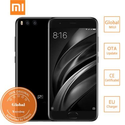 smartylife-Xiaomi Mi6 5.15 Inch 4G LTE Smartphone 6GB 64GB Snapdragon 835 12.0MP Cam Android 7.1 NFC Dual Rear Cam Four-sided Curved 3D Glass Body  - Black