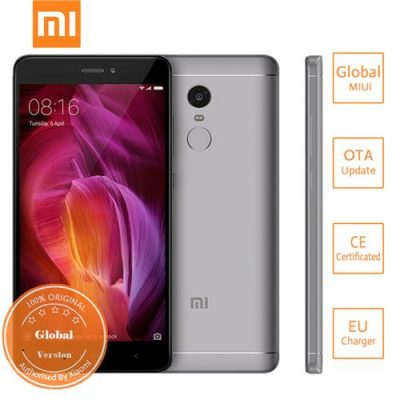 smartylife-Xiaomi Redmi Note 4 5.5 Inch 2.5D Arc Screen Snapdragon 625 Octa-core MIUI 8 4G LTE 3GB RAM 32GB ROM Smartphone 13.0MP Touch ID 4100mAh - Gray