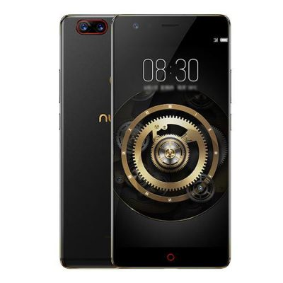 smartylife-ZTE Nubia Z17 5.5 Inch 4G LTE Smartphone 8GB 128GB Dual Rear Cam 23.0MP + 12.0MP Snapdragon 835 Octa Core Android 7.1 NFC Fast Charge QC4+ Bass Sound - Black Gold