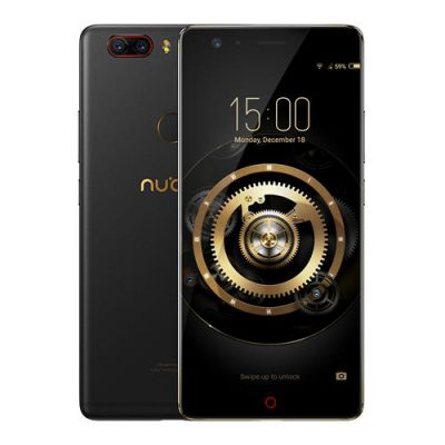 smartylife-ZTE Nubia Z17 Lite 5.5 Inch Smartphone 6GB 64GB 13.0MP Dual Rear Camera Snapdragon 653 Octa Core Android 7.1 NFC QC3.0 Metal Body - Black Gold