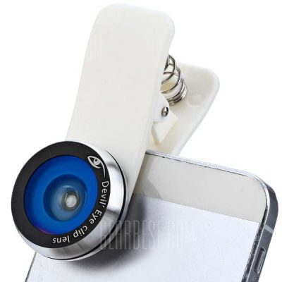 smartylife-Devil's Eye Fisheye Lens with Clip for iPhone iPad Samsung and A Variety of Smart Phone