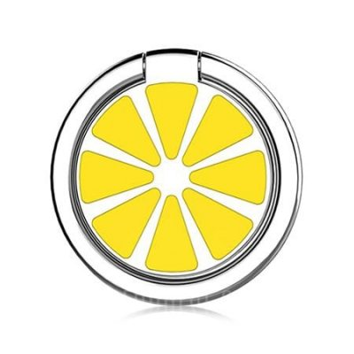 smartylife-Lemon Pattern Round Shape Ring Holder for Cell Phone
