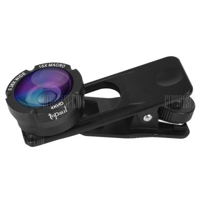 smartylife-Topaul MPL002 0.36X Super Wide Angle 15X Macro Phone Lens