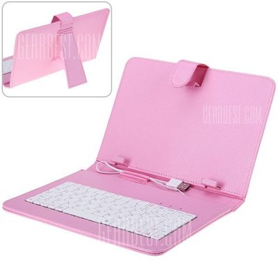 smartylife-USB 2.0 Connected Keyboard PU Leather Protective Case for 9 inch Tablet