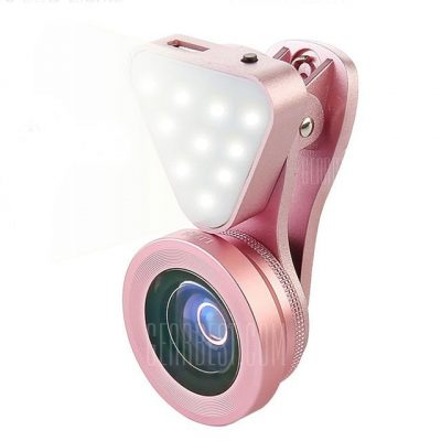 smartylife-3-in-1 Wide Angle Macro Lens Phone Camera Photography LED Flashlight Lamp