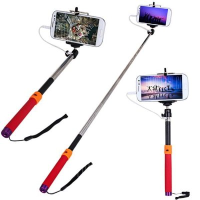 smartylife-Fashionable RC Self Timer Stretch Camera Monopod with Clip Stand and 3.5mm Audio Cable