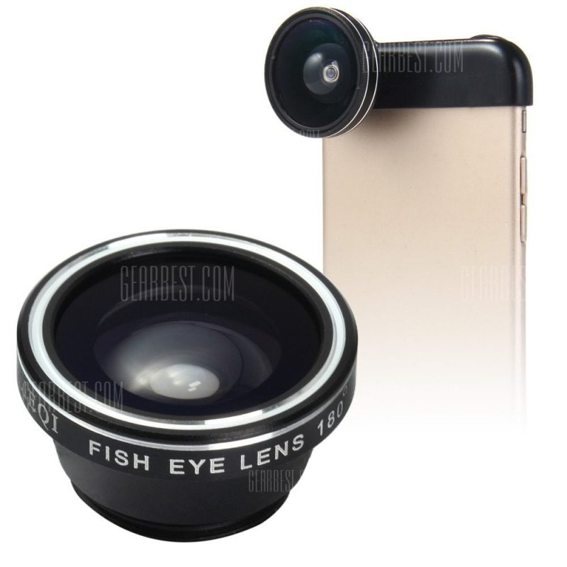 smartylife-LIEQI LQ - 018 3 In 1 180 Degree Fisheye Photo Lens