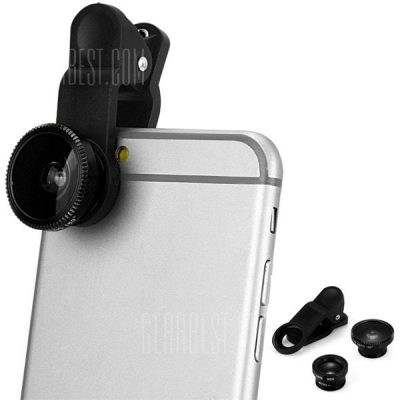 smartylife-LP 3001 3 in 1 Universal Clamp Camera Lens Including Fisheye Macro and Wide Angle