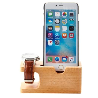smartylife-Practical Bamboo Material Charging Stand